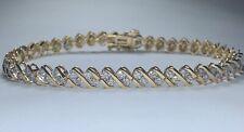 """14k Gold Diamond Tennis Bracelet for Women 3 CTW 7.5""""/8"""""""