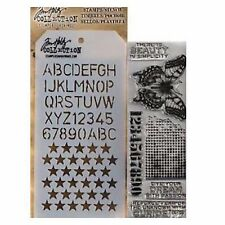 TIM HOLTZ Mixed media stamp & stencil PERSPECTIVE THMM106 for stamping