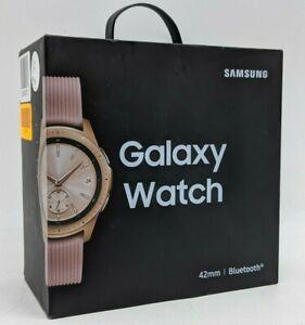 Samsung Galaxy Watch 42mm Rose Gold Stainless Steel Case, Pink Strap -NR4353