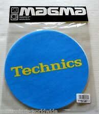 "SEALED - TECHNICS - TURNTABLE DJ SLIPMATS - PAIR ""YELLOW LOGO ON BLUE"" DESIGN"