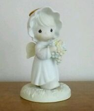 """Precious moments figurine """"a bouquet from God's garden of love"""""""
