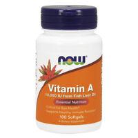 NOW FOODS Vitamin A 10,000 IU 100 Softgels - VITAMINE