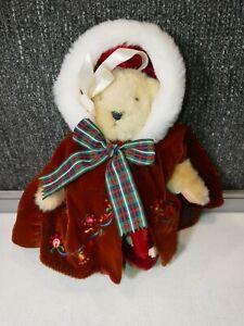 Vintage MUFFY VANDERBEAR Wearing Winter Poncho