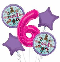 New LOL Surprise! 6TH Six Birthday Party Favor Supplies Balloon Bouquet 5pc