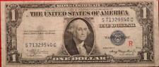 "1935-A U.S. $1 Silver Certificate Experimental ""R"" Circulated Note"