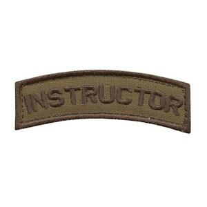 instructor shoulder tab coyote tan contractor police army touch fastener patch