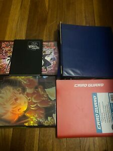 Yugioh collection binders 1000s of old cards 6 binders and 2 playmats