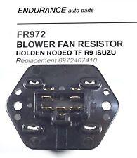 BLOWER CABIN FAN MOTOR RESISTOR HOLDEN ISUZU RODEO TF 1994 to 2002  p/n 97240741