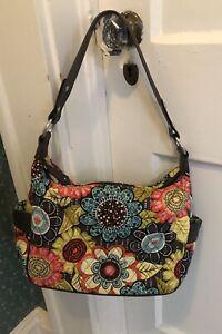 VERA BRADLEY  MultiColor Floral Purse/Handbag. Double Handles. Very Good Cond.
