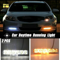 2x LED Car Daytime Running Light Driving Turn Signal DRL Fog Lamp Amber /White