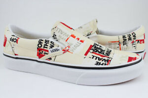Vans Classic Slip-On -Packing Tape -Off White/Red/Black -Canvas Shoes -Men/Women
