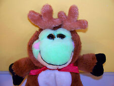 "Ganz ~8"" Frog In Reindeer Outfit~Plush Stuffed Animal"