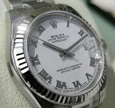 Rolex Datejust 178274 Midsize Steel & White Gold White Roman Oyster 31MM