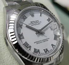 Rolex Datejust 178274 Midsize Steel & White Gold White Roman Oyster 31MM