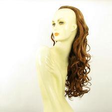 Demi-tête, demi-perruque ondulée 66cm blond foncé cuivré ref 013 en g27