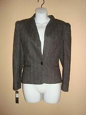 New Tahari Womens Adora Black Stripe Jacket US 2 UK 6
