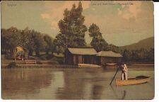 Ceylon Lake and Boat House Nuwara Ellya Sri Lanka Postcard