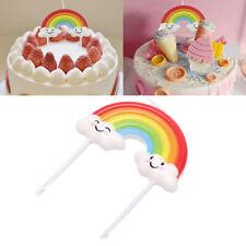 Rainbow Cake Toppers Cloud Cake Flags Decor Kids Birthday Party Cupcake Topp.mc