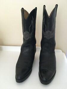 Ladies- Harley Davidson - Black Leather - Western Style - MC Boots - UK Size 6