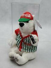 Coca Cola Coke Polar Bear Bean Bag Plush Stuffed Animal Mini Bottle Toy (A)