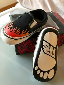 Vans Flaming slip on crib shoes size 2