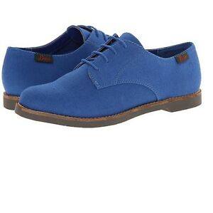 Bass Womens Elly Canvas Fabric Lace Up Oxfords Shoes Blue or Black Size 5.5