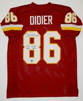 Clint Didier Signed Maroon Pro Style Jersey W/ SB Champs- The Jersey Source Auth