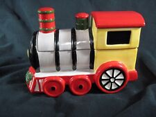 Pfaltzgraff Candy Dish Train Engine with Lid in Christmas Heritage