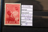 FRANCOBOLLI BELGIO NUOVI ** N. 452 (A53396)