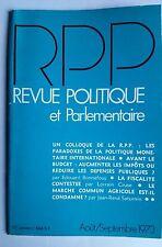 Revue Politique et Parlementaire 8/1973; Le marché commun agricole