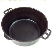 """1950s Wagner Ware Sidney O Cast Iron Dutch Oven #1268 Cooking Pot 10.5"""" x 4.25"""""""