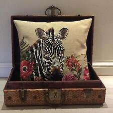 Zebra Pillow Cover - Wildlife Decor - Zebra Gift - Decorative Tapestry Cushion
