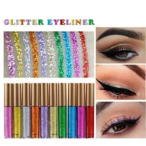 10 PCS Set Long-Lasting Metallic Sparkling Glitter Liquid Eyeliner Party Makeup