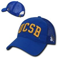 NCAA UCSB UC Santa Barbara Gruchos Relaxed Mesh Trucker Caps Hats Royal