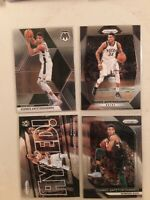 2017-18 Panini Prizm  Giannis Antetokounmpo (4) card lot 2018 and 2019 mosiac