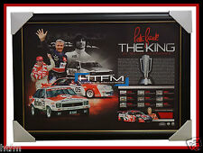THE KING – PETER BROCK SIGNED FRAMED BATHURST TRIBUTE LITHOGRAPH OFFICIAL + COA