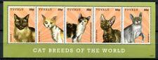 Tuvalu 2012 Katzen Cats Siam Burma Devon Rex Amerik. Drahthaar 1855-1859 MNH