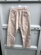 Levis 501 Beige Denim Mens Jeans - W34 L34