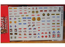 Gofer 11040 Nascar and NHRA Style Sponsor Decal Sheet 1/24 and 1/25