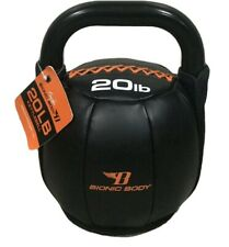 Kettlebell  20 lb Kettlebell By Bionic Body Padded Home Gym Workout CrossFit