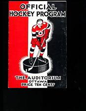 EX COND 12/24/1932 Bos. Bruins @ Ottawa Senators NHL Program 10 HOFers in lineup