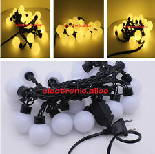 5CM Big Ball LED String Light Christmas 5M 20LEDs warm white 220v Fairy String