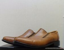 MENS HAND MADE SHOES BY JUNYUAN SIZE 11 BROWN FORMAL LOAFERS