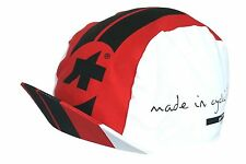 Assos Mille Cycling Cap Red Black White Premium European Design Made In Italy