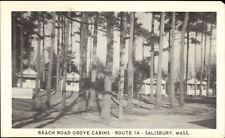 Salisbury MA Beach Road Grove Cabins Route 1a Postcard