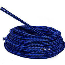 8TC Blue/Black DIY Bulk speaker Cable Audiophile sell per 1m Teflon copper