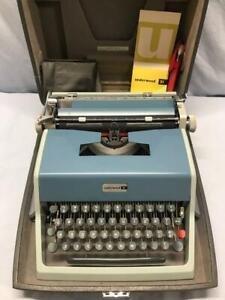 Vintage UNDERWOOD 21 Manual Typewriter - Spain - w/Case, Manual, Cover - EUC