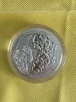 1993 Australian Kookaburra round PM capsule 1 oz BU-ST Silver with
