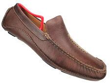 Umberto Raffini Alassio Driving Loafer Brown Leather Men Shoe Sz 45, US 11-11.5