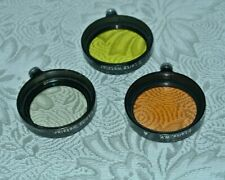 Leica Leitz A36 Clamp On Filter Set of 3/ Summaron 3.5cm 36mm UV,Yellow &Warming